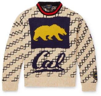 Calvin Klein Oversized Bear-Intarsia Wool-Blend Sweater
