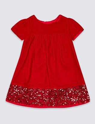 Marks and Spencer Velvet Sequins Dress (3 Months - 7 Years)