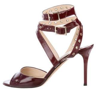Jimmy Choo Patent Leather Embellished Sandals gold Patent Leather Embellished Sandals