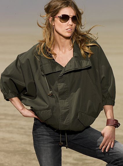 Button-front poncho