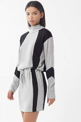 Urban Outfitters Addy Colorblock Turtleneck Mini Dress