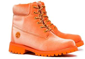 Off-White Off White x timberland velvet boots