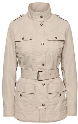 Banana Republic Waxed Cotton Blend Utility Jacket