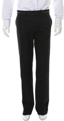 Givenchy Flat Front Straight-Leg Pants