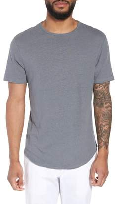 Vince Raw Hem Linen & Cotton T-Shirt