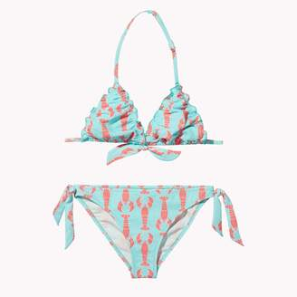 Tommy Hilfiger TH Kids Lobster Print Triangle Bikini Set