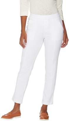 Isaac Mizrahi Live! Petite Knit Denim Pull-On Ankle Jeans