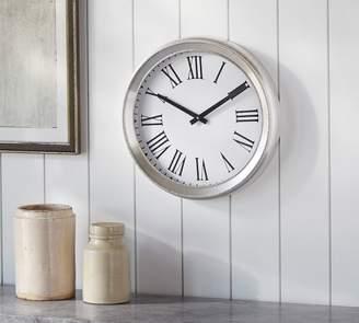 Pottery Barn Portia Beaded Wall Clock - Brushed Nickel