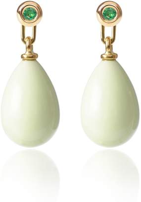 McFarlane Fine Jewellery - Emerald & Lemon Chrysoprase Earrings Medium