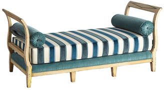 Rejuvenation Painted French Daybed w/ New Velvet Upholstery