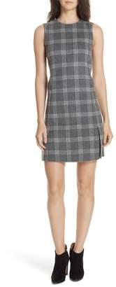 Theory Westport Plaid Wool Cashmere Shift Dress