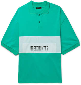 Balenciaga Speedhunter Oversized Cotton-Jersey Polo Shirt