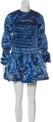 Jourden Iridescent Crepe Dress