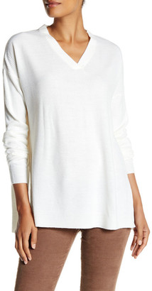 Sweet Romeo Oversized V-Neck Pullover Sweater $78 thestylecure.com