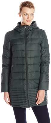 Hawke & Co Women's Mid Length Packable Down Coat