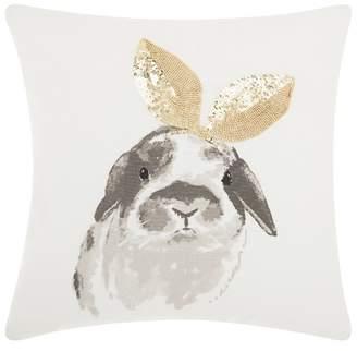 Mina Victory Gold Rabbits Throw Pillow