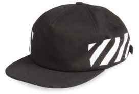 Off-White Diagonal Brushed Cap $119 thestylecure.com