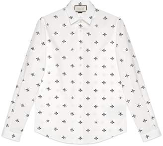 Gucci Bee star cotton Duke shirt