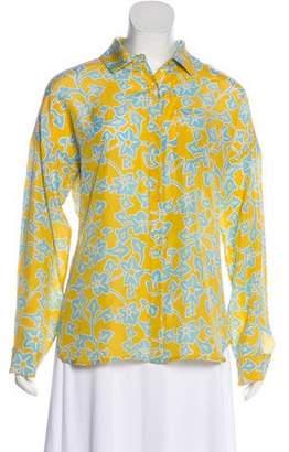 Diane von Furstenberg Printed Long Sleeve Top