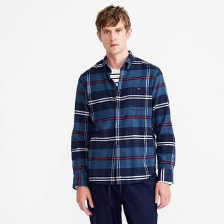J.Crew Slim brushed heather elbow-patch shirt in bold plaid