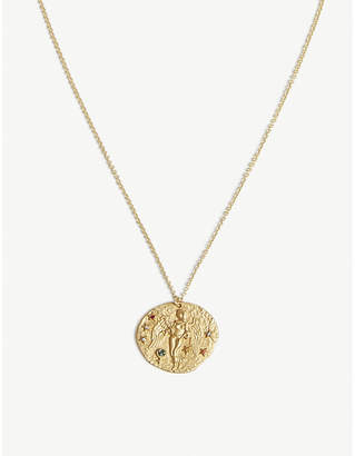 Swarovski crystal pendant necklace shopstyle at selfridges maje virgo zodiac sign brass and swarovski crystal pendant necklace aloadofball Gallery
