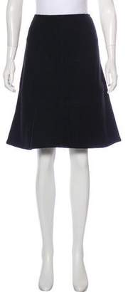 Alaia Wool Flared Skirt