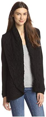 James & Erin Women's Chain Link Cardigan Sweater