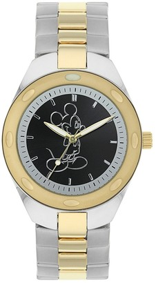 Disney Disney's Mickey Mouse Silhouette Men's Two Tone Stainless Steel Watch
