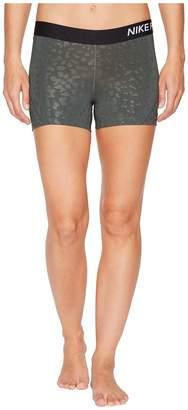 Nike Pro Spotted Cat 3 Training Short Women's Shorts