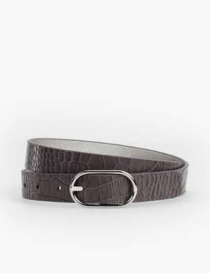 Talbots Plus Size Reversible Belt - Saffiano Leather/Metallic