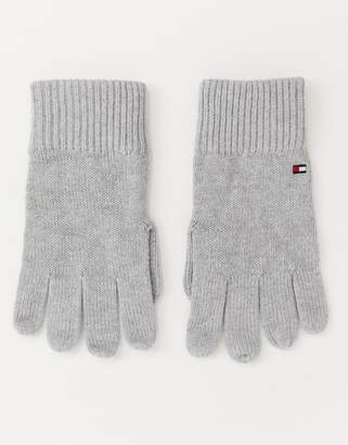 Tommy Hilfiger pima cotton cashmere gloves in gray