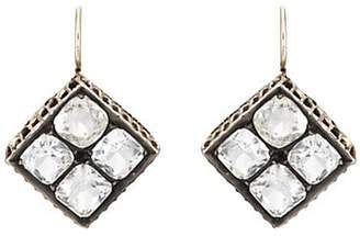 Stephanie Windsor Antiques Women's Crystal-Embellished Square Drop Earrings