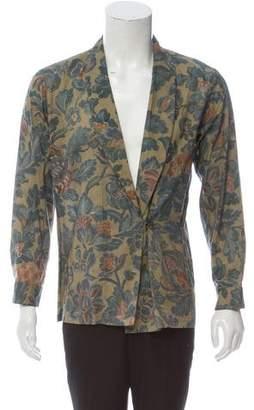 Dries Van Noten Shawl Collar Single Button Shirt