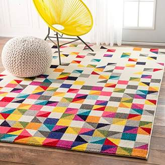 nuLoom Contemporary Geometric Triangle Mosaic Area Rugs