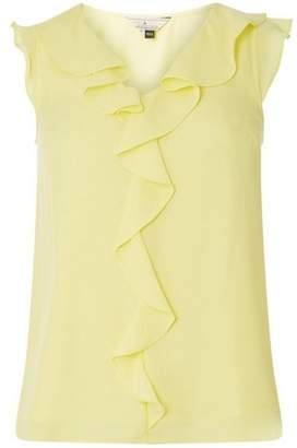 Dorothy Perkins Womens **Billie & Blossom Lemon Ruffle Shell Top