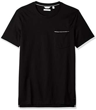 Calvin Klein Men's Short Sleeve Jersey Tee with Rib Details