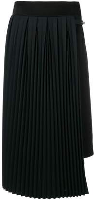 Loewe pleated panel skirt