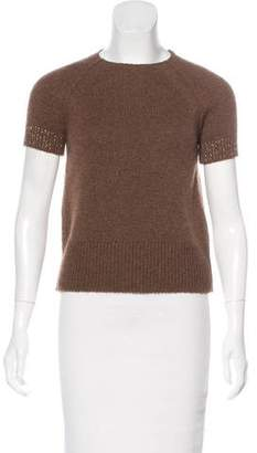 Lanvin Metallic Knit Top