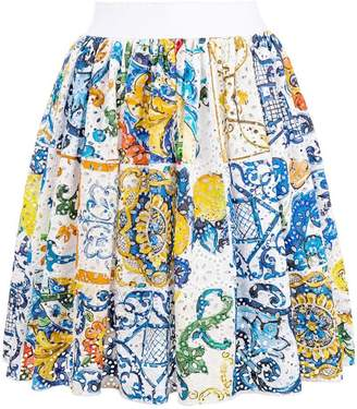 Dolce & Gabbana tile print mini skirt