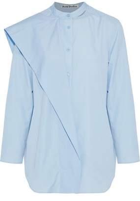 Acne Studios Bianca Layered Cotton-Poplin Shirt