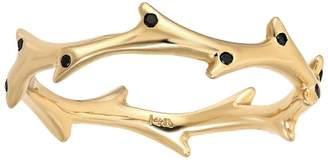 Dru Black Diamond Crown Of Thorns Ring - Yellow Gold