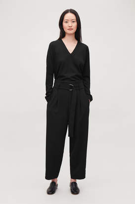 Cos D-RING BELTED PAPERBAG TROUSERS