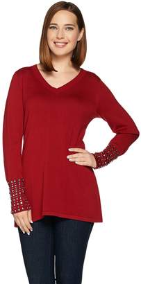 Belle By Kim Gravel Belle by Kim Gravel Fit and Flare Sweater with Cuff Details