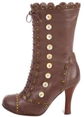 John Galliano Brogue Ankle Boots
