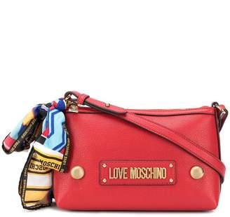 Love Moschino logo scarf crossbody bag