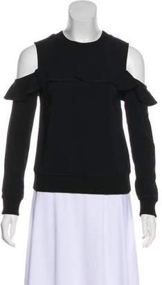 A.L.C. Long Sleeve Cold-Shoulder Top