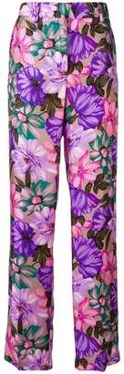MSGM straight leg floral trousers