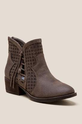 Mata Lace Up Ankle Boot - Taupe