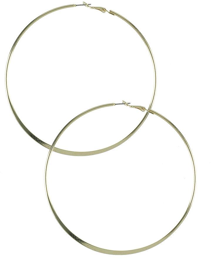 Large Taper Hoop Earrings