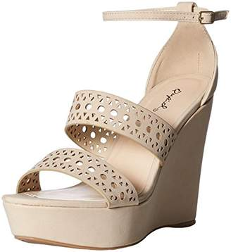 Qupid Women's Wedge Sandal